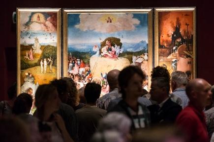 Nederland, Den Bosch, vrijdag, 2 dagen voor het sluiten van de expositie , gefotografeerd om 8 uur tm 10uur in de avond